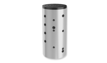 Буферен съд Елдом,една серпентини,Неемайлиран,модел:BCS 1000K