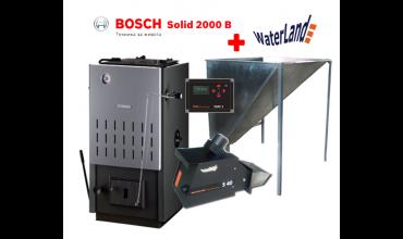 Котел на твърдо гориво Bosch Solid SFU 2000 32kW стоманен