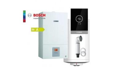 Котел газов Bosch Condens 2500W,едноконтурен 24.00kW,базов димоотвод и термоуправление СТ100 стенен бойлер 150л.,датчик NTC за бойлер