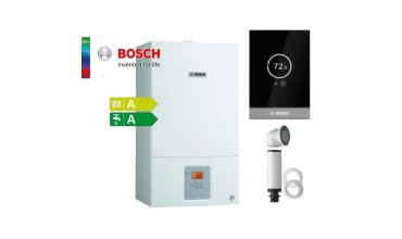 Котел газов Bosch Condens 2500W,едноконтурен 24.1kW,базов димоотвод и смарт управление Control CT100