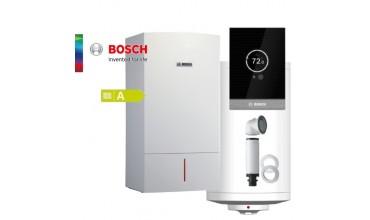 Котел газов Bosch Condens 7000W,бойлер Tronic,едноконтурен 15.9kW,базов димоотвод и термоуправление СТ100