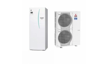 Термопомпа Mitsubishi Electric Ecodan,модел: EHST20C-VM2C+PAC-DP01-E/PUHZ-SW120V/YHA Power inverter с вграден водосъдържател (16 kW)