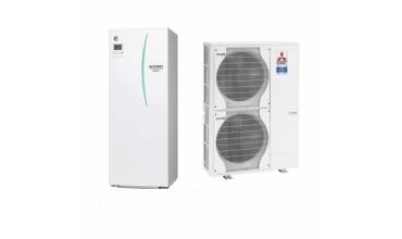 Термопомпа Mitsubishi Electric Ecodan,модел: EHST20C-VM2C+PAC-DP01-E/PUHZ-SW120V/YHA Power inverter с вграден водосъдържател (16 kW - 400V)