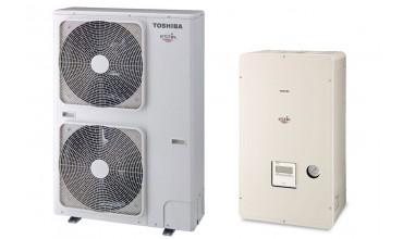 Термопомпа Toshiba Estia, модел: HWS-P1104XWHT6-E / HWS-P1104HR-E (380 V) POWERFULL