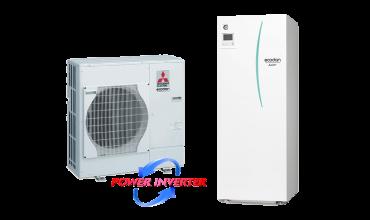 Термопомпа Mitsubishi Electric Ecodan,модел: EHST20C-VM2C+PAC-DP01-E/PUHZ-SW75VHA Power inverter с вграден водосъдържател (8 kW)