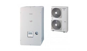 Термопомпа въздух-вода Toshiba Estia, модел: HWS-P1104XWHT6-E / HWS-P1104HR-E (380 V) POWERFULL
