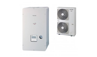 Термопомпа въздух-вода Toshiba Estia, модел: HWS-P1104XWHT9-E /HWS-P1104HR-E (380 V) POWERFULL